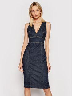 Guess Sukienka jeansowa Isabela W1GK17 D4CS1 Granatowy Slim Fit