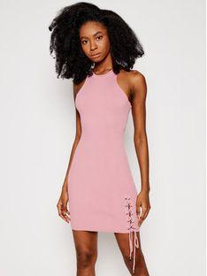 Guess Sukienka letnia W1GK90 Z2U00 Różowy Slim Fit