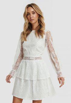 NA-KD - Sukienka letnia - biały