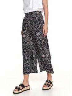 Spodnie damskie culotte w delikatny wzór