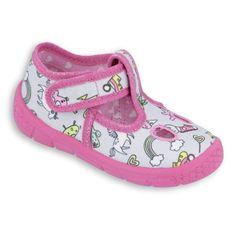 Befado obuwie dziecięce  533P001 różowe szare