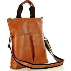 Shopper bag brązowa Mazzini
