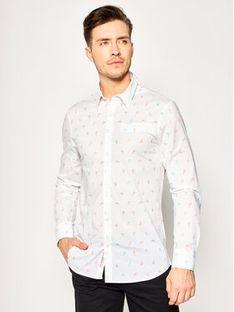 Guess Koszula Ls Sunset Shirt M02H20 W8BX0 Biały Slim Fit