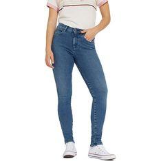 Wrangler jeansy damskie bez wzorów w miejskim stylu