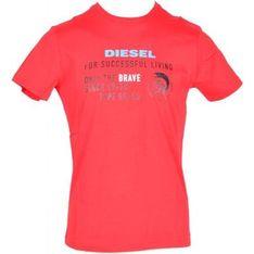 T-shirt męski Diesel z krótkimi rękawami bawełniany