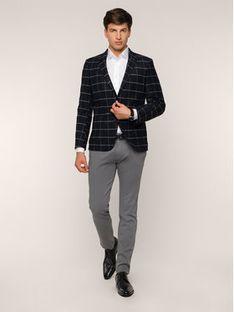 Roy Robson Spodnie materiałowe 941-51 Szary Slim Fit