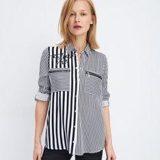Mohito - Wiskozowa koszula w paski - Biały