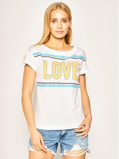 LOVE MOSCHINO T-Shirt W4F301WM 3876 Biały Regular Fit