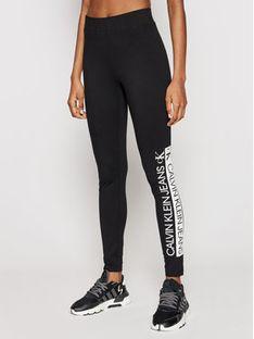 Calvin Klein Jeans Legginsy J20J215789 Czarny Slim Fit