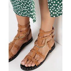 Sandały damskie Born2be z klamrą