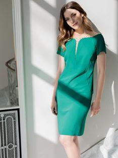 Sukienka z ozdobnym dekoltem Potis & Verso TULISO