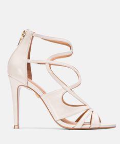 Białe sandały damskie