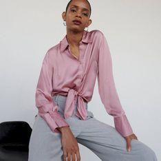 Reserved - Koszula z wiskozy - Różowy