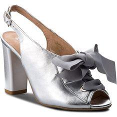 Sandały damskie Eksbut srebrny