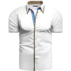 Koszula męska Risardi z krótkimi rękawami z klasycznym kołnierzykiem letnia