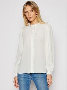 Pinko Koszula Labile PE 21 BLK01 1G15T5 Y6WB Biały Regular Fit