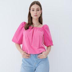 Mohito - Bluzka z bufiastymi rękawami - Różowy