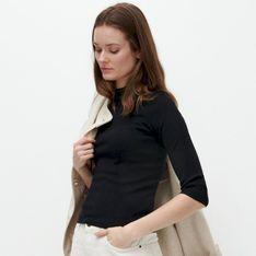 Reserved - Lekki sweter ze stójką - Czarny