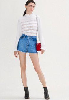 maje - Szorty jeansowe - niebieski