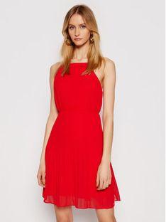 Pepe Jeans Sukienka koktajlowa Mine PL952857 Czerwony Regular Fit