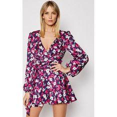 Sukienka For Love & Lemons w kwiaty z długim rękawem