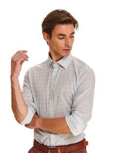 Koszula z lnem o dopasowanym kroju