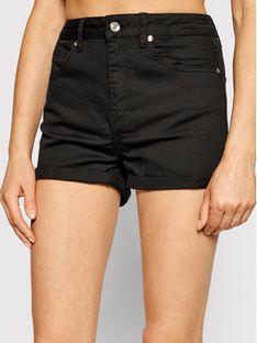 Liu Jo Szorty jeansowe WA1253 T4033 Czarny Slim Fit