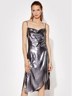 Rage Age Sukienka koktajlowa Sterope 2 Srebrny Regular Fit