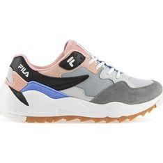 Buty sportowe damskie wielokolorowe Fila do biegania skórzane płaskie gładkie sznurowane