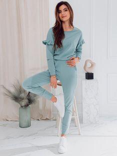Komplet damski bluza + spodnie 005ZLR - błękitny