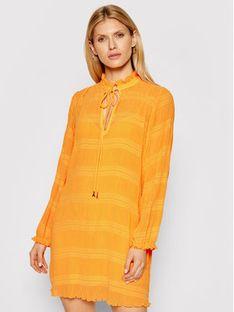 Patrizia Pepe Sukienka codzienna 8A0854/A8R2-R713 Pomarańczowy Regular Fit