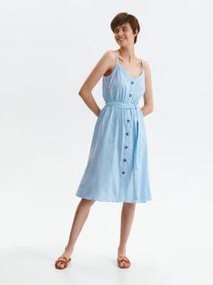 Letnia sukienka na ramiączkach z wiązaniem w talii