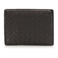Intrecciato Leather Bifold Wallet  Calf