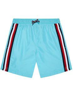 Tommy Hilfiger Szorty kąpielowe Medium Drawstring UB0UB00360 Niebieski Regular Fit