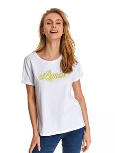 T-shirt z neonowym napisem