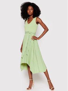 Guess Sukienka codzienna Erynn W8FK2X RC1S0 Zielony Regular Fit