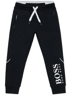 Boss Spodnie dresowe J24M35 S Czarny Regular Fit