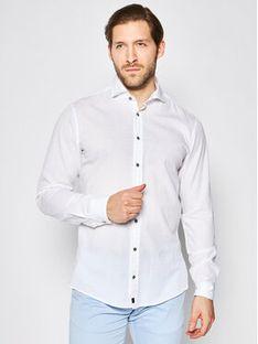 Strellson Koszula Carlo2 30020197 Biały Regular Fit