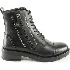 Botki Manoukian Shoes skórzane