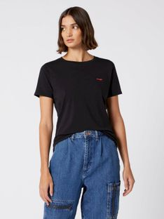 "Wrangler ""Sign Off Tee"" Black"
