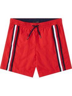 Tommy Hilfiger Szorty kąpielowe Medium Drawstring UB0UB00282 D Czerwony Regular Fit