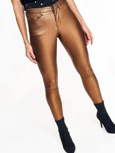 Metaliczne spodnie damskie