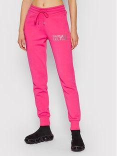 Versace Jeans Couture Spodnie dresowe 71HAAT04 Różowy Regular Fit