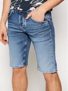 Pepe Jeans Szorty jeansowe Track PM800487WQ5 Niebieski Regular Fit