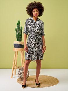 Koszulowa sukienka z motywem zebry Smashed Lemon 20006