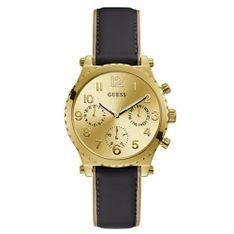 Zegarek GUESS - Athena GW0036L2 BLACK/GOLD