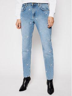 One Teaspoon Jeansy Straight Leg Pac Star Awe Bag 23631 Niebieski Straight Leg