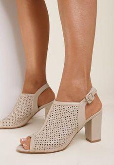 Beżowe Sandały Paphypso
