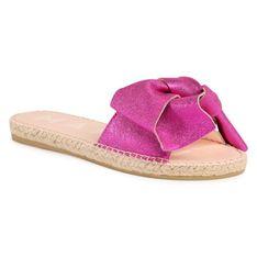 Espadryle MANEBI - Sandals With Bow O 1.3 J0 Metallic Fuxia