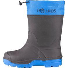 Buty zimowe dziecięce Trollkids czarne skórzane kozaki